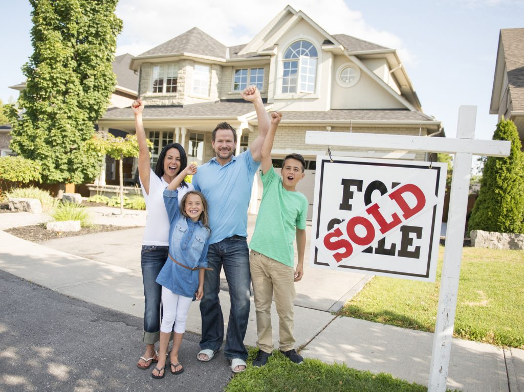 Young family excited about selling their home